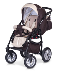 Euro-Cart  Passo 3-in-One Duo Kombi ( Golden Beige Bordeaux ) med Bilstol   Leveranstid ca 15 dagar